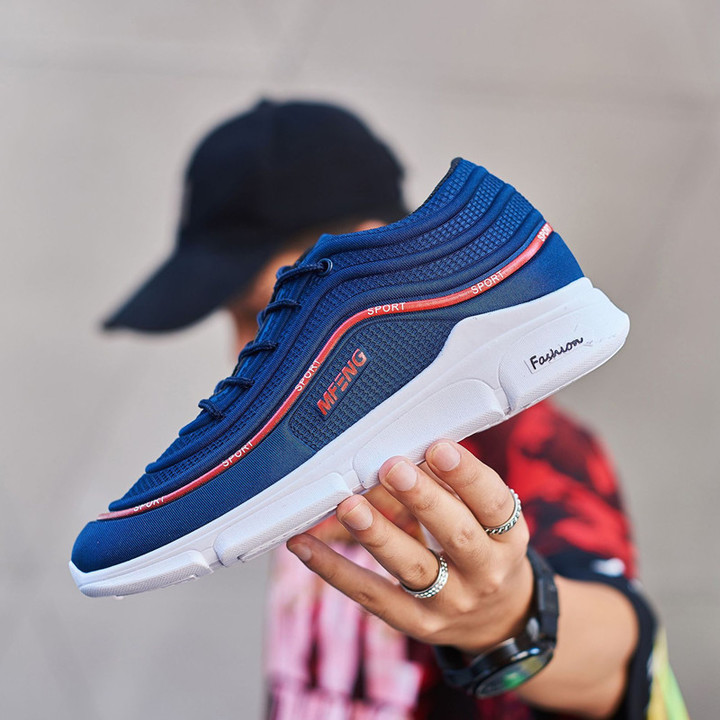 TOTO  Comfortable sport shoes men shoes,casual shoes,sport shoes,male shoes fashion sneakers blue 39