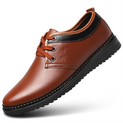 TOTO men shoes flat shoes formal shoes party shoes casual shoes PU leather shoes brown 39 pu&plastic cement