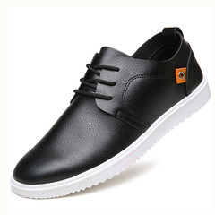 TOTO Doudou men shoes flat shoes formal shoes party shoes casual shoes PU leather shoes black 39 pu&plastic cement