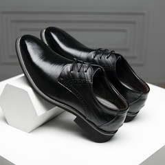 TOTO Gentleman Business flat shoes men shoes formal shoes party shoes casual shoes leather shoes black 39 Super Fibre Leather