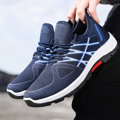 TOTO  shoes  men shoes mesh shoes flat shoes male shoes sport shoes casual shoes  fashion sneakers dark blue 39