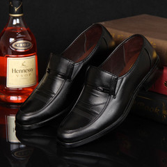 TOTO gentleman shoes men shoes men flat shoes formal shoes party shoes casual shoes PU leather shoes black 39 pu