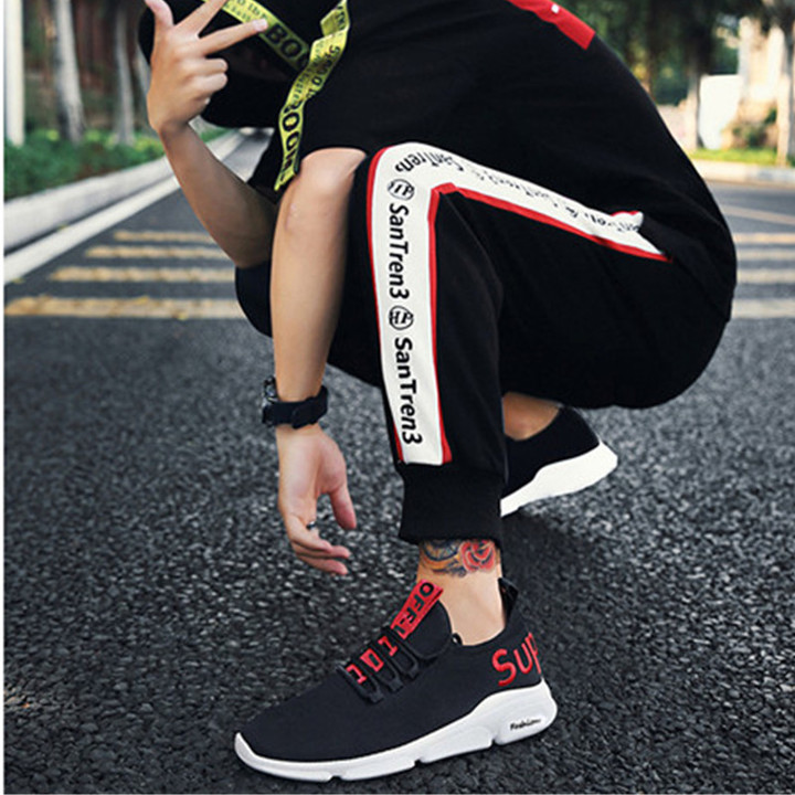 High-end men shoes on sale casual shoes sport shoes male shoes fashion sneakers red 44 4