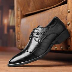 High-end gentleman shoes men shoes  flat shoes formal shoes party shoes casual shoes  leather shoes black 39 pu&plastic cement