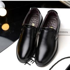TOTO dress shoe men shoes flat shoes formal shoes party shoes casual shoes PU leather shoes black 39 pu&plastic cement
