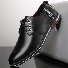 TOTO business shoes men shoes flat shoes formal shoes party shoes casual shoes PU leather shoes black 39 artificial pu