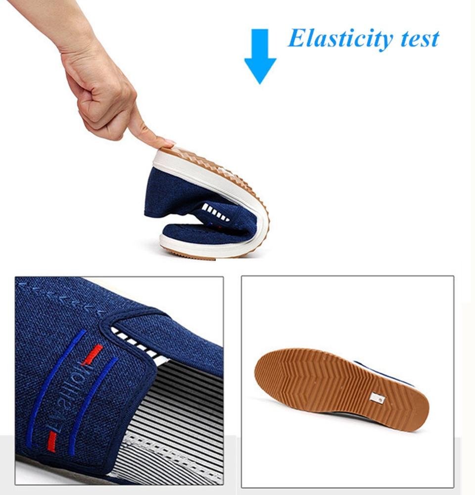 TOTO  men shoes men flat shoes canvas shoes party shoes casual shoes loafers shoes male shoes dark blue 44 2