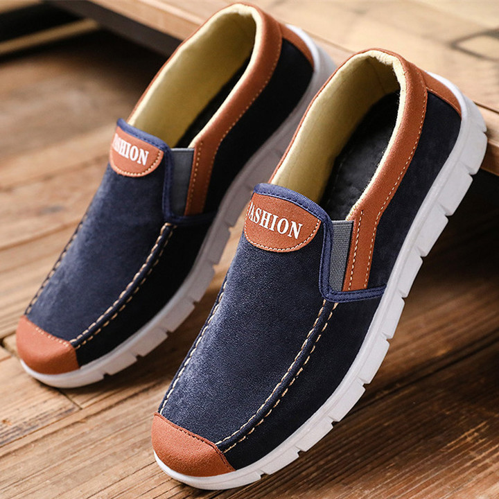 Special offer flat shoes casual shoes men shoes loafers shoes canvas shoes party shoes sneakers dark blue 40