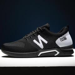 2019NEW coolboy shoes men shoes loafers flat shoes mesh shoes fashion sneakers men shoes casual BLACK1 39
