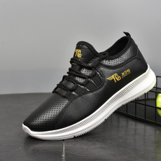 New Pu stitching coolboy sneakers shoes men shoes casual sport shoe mens shoes flat shoes sneakers black 39
