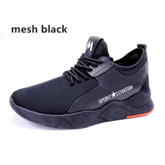 SUPPER shoes men shoes sport shoes casual shoes fashion sneakers flat shoes male shoes running shoes mesh black 39