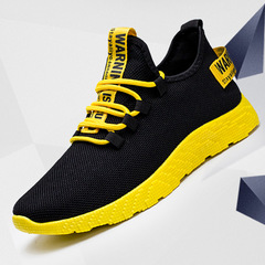 FIRE shoes men shoes sport shoes casual shoes fashion sneakers flat shoes male shoes running shoes black&yellow 39