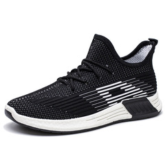 AFIRE shoes men shoes sport shoes casual shoes fashion sneakers flat shoes male shoes running shoes black&white 39