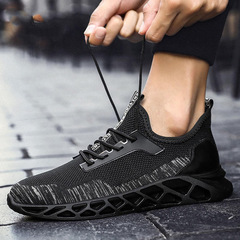 SUPPER shoes men shoes sport shoes casual shoes fashion sneakers flat shoes mesh shoes running shoes black grey 39