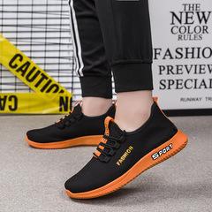 TOTO NEW shoes men shoes mesh shoes flat shoes male shoes sport shoes casual shoes  fashion sneakers orange 39