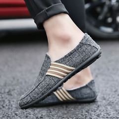 Limited time special offer casual shoes men shoes loafers canvas shoes party shoes flat shoes DARK grey 39