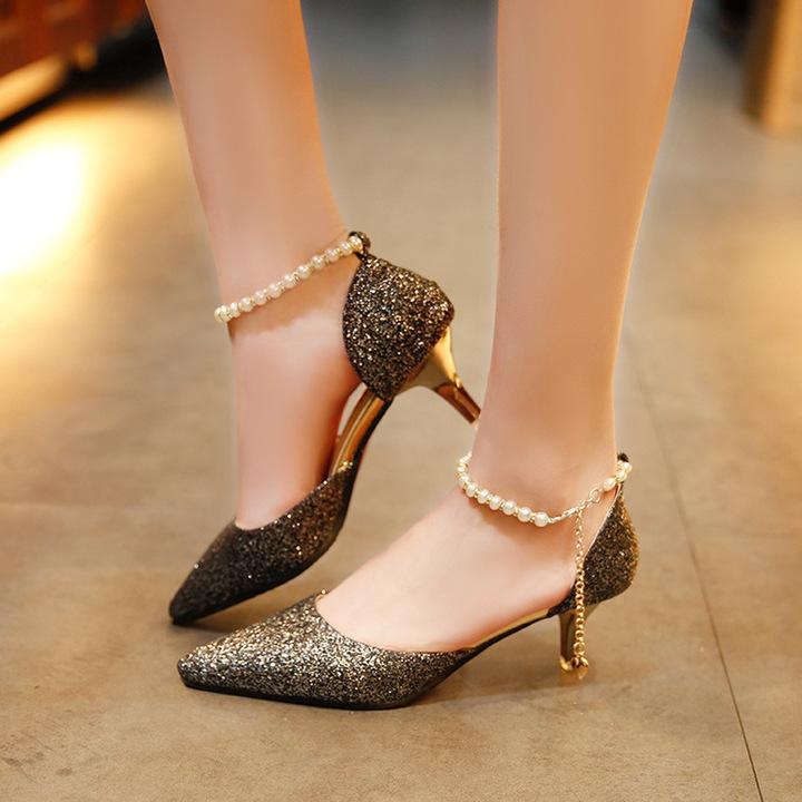 A ladies heels shoes women shoes womens shoes heels wedding shoes party shoes female shoes heels black 36
