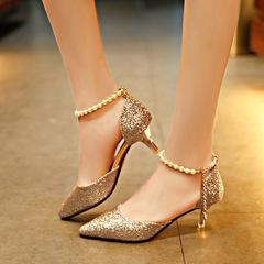 A ladies heels shoes women shoes womens shoes heels wedding shoes party shoes female shoes heels gold 37