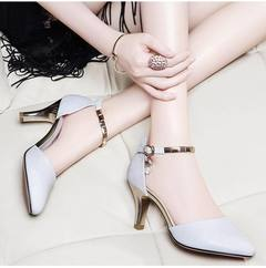High-end wedding shoes party shoes women shoes heels female shoes ladys shoes Women's Shoes WHITE 36
