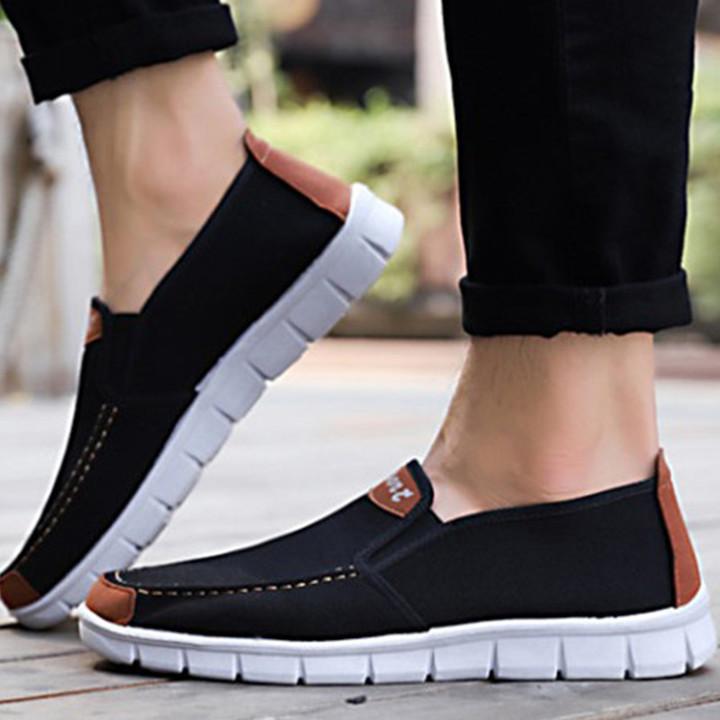 TOTO Doudou men shoes men flat shoes canvas shoes party shoes casual shoes loafers shoes male shoes black 40