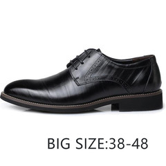TOTO Gentleman Business flat shoes men shoes formal shoes party shoes casual shoes leather shoes black 48 Super Fibre Leather