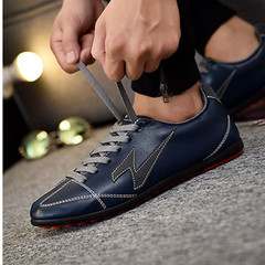 TOTO Shoes flat shoes men shoes loafers shoes party shoes casual shoes fashion sneakers MEN SHOES dark blue 40