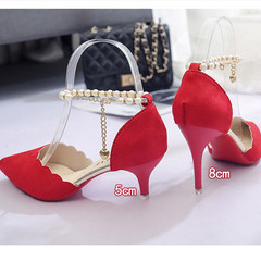 TOTO beautiful female shoes women shoes wedges lady shoes heels women shoes heels party shoes RED 36(5cm)