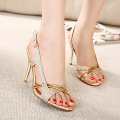High-end Wedding shoes party shoes women shoes heels Women's Shoes  Elegant ladies'shoes women shoes gold(7CM) 36
