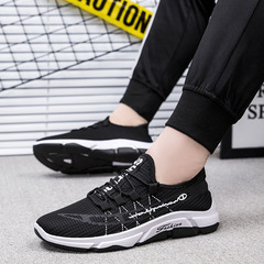 REALLYGOODshoes men shoes mesh shoes flat shoes male shoes sport shoes casual shoes fashion sneakers black&white 39
