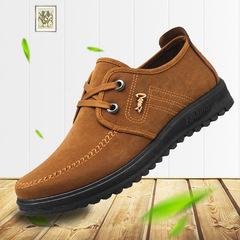 Shoes men shoes men flat shoes canvas shoes party shoes casual men shoes loafers shoes male shoes BROWN 39