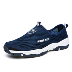 S shoes men shoes loafers mesh shoes flat shoes male shoes sport shoes casual shoes fashion sneakers blue 39