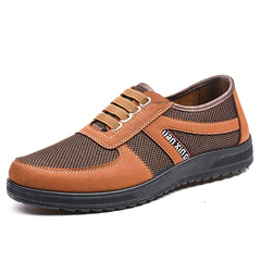 Easter shoes men shoes loafers mesh shoes flat shoes male shoes sport shoes casual shoes sneakers brown 41