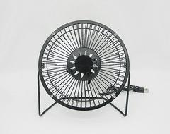 Portable Rechargeable USB Iron Cooling Fan 02 6 inch black
