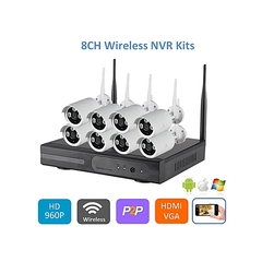 8CH HD NVR Kit  720p Wireless Security Camera System