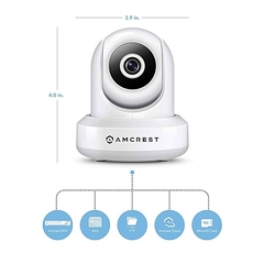 IPM-721W - 720P WiFi Video Monitoring Security Wireless IP Camera - White White .