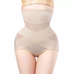 Waist Trainer Shapewear Butt Lifter Slimming Belt Modeling Strap Body Shaper Lingerie Control Pants apricot m