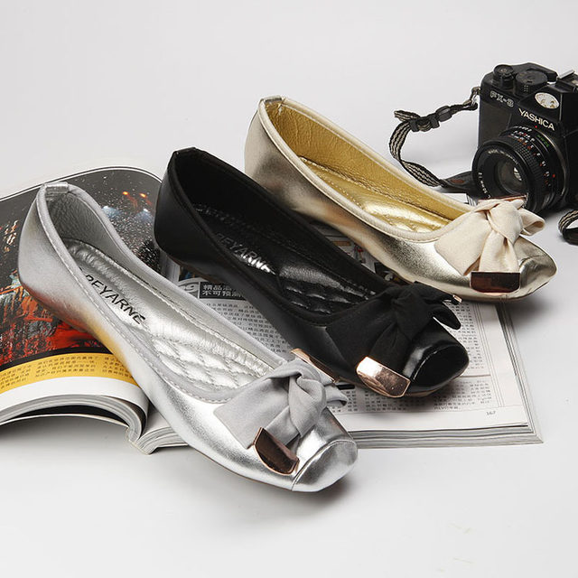 83c002d1da92 ... Shallow Mouth Toe Flat Heel Boat Shoes grey 38  Product No  3144798.  Item specifics  Brand