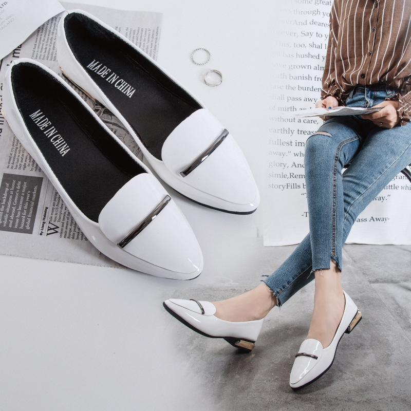 2a084ed2947 ... Lady Shoes Low Heels Slip On Pointed Toe Thick Heel black 35  Product  No  7416072. Item specifics  Brand  Standard size