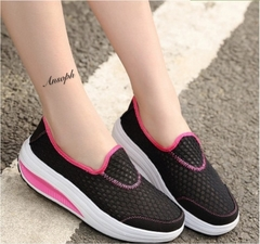 New Outdoors Trainers Running Shoes Woman Sport Athletic Unisex Breathable Mesh Female Sneakers # grey 35