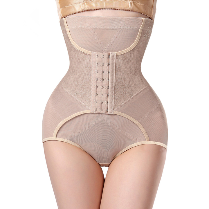 Waist Trainer Modeling strap Control Pants Butt lifter Slim Belt body shaper Corset Slimming Belt apricot xxxl