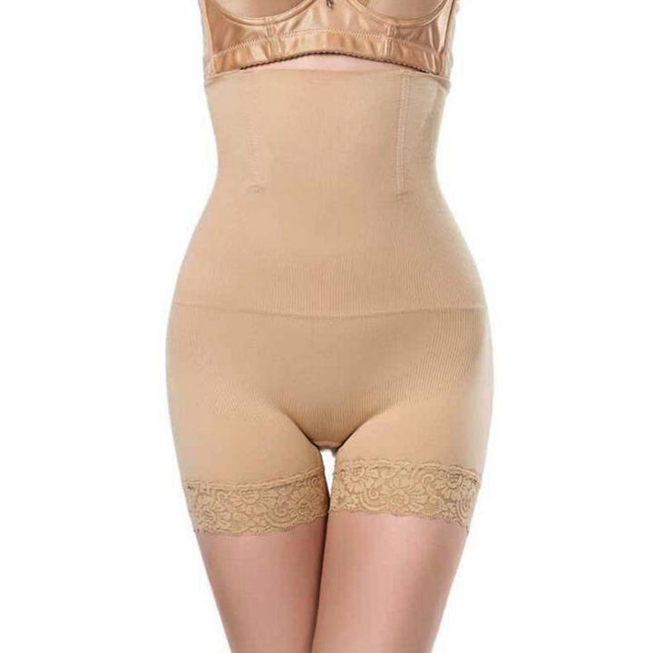 df6e72caa2 Women s High Waist Body Shaper Panties Seamless Lace Tummy Belly Control  Waist Slim Shapewear apricot xl
