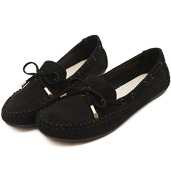 Genuine Leather Women Flats Casual Moccasins Loafers Women Shoes Fashion Comfortable Shoes Woman black 35