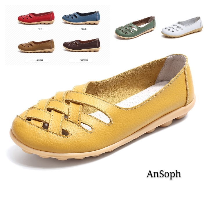 Womens Girls Comfort Boat Shoes Flats Ballet Dancing Ballerina Shoes Plus Size N