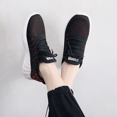 AnSoph 1 Pair Sneaker Women Ladies Causual Shoes Fashion Breathable Mesh Lace Up Shoes Tenis Feminin black 36