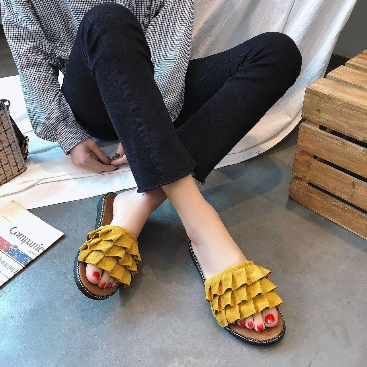 b186f32fe ... Women Ladies Flat Sandal Casual Shoe Beach Slipper Fashion yellow 40   Product No  10927293. Item specifics  Brand