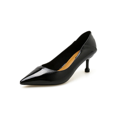 AnSoph 1 Pair Pointed Pump Women Ladies Thin Heeled Work Shoe Soft Upper Elegant Pump Shoe Sexy Shoe black 35