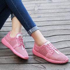 AnSoph 1 Pair Beathable Sneaker Women Ladies Hive Running Sport Shoe Summer Casual Shoe Comfortable pink 35