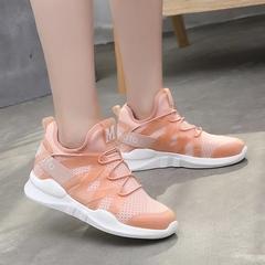 AnSoph 1 Pair Breathable Sneaker Women Ladies Light Weight Sport Shoe Causal Running Summer Shoe pink 35