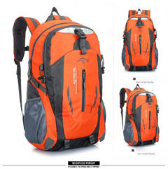 40L Men Backpack Unisex Mountaineering Bag Nylon Waterproof Bags Travel Backpacks Sports Bags orange 40 L
