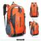 40L Men Backpack Unisex Mountaineering Bag Nylon Waterproof Bags Travel Backpacks Sports Bags orange 40 L